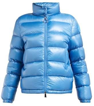 Moncler Copenhague High-neck Down-filled Coat - Womens - Light Blue