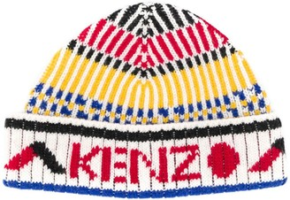 Kenzo intarsia knit beanie hat