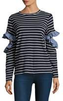 Clu Ruffled Open Sleeve Top