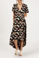 Azalea Floral S/S Maxi Wrap Dress