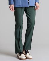 Marni Twisted Wool Trouser Pants, Juniper