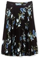 Vince Camuto Floral-print Pleated Skirt