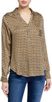Chaser Silky Henley Printed Shirt