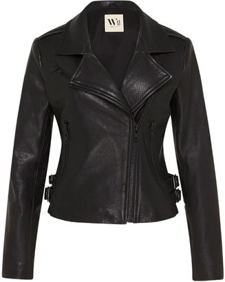 West 14th New Yorker Motor Jacket Black Leather