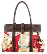 Loro Piana Leather-Trimmed Printed Bag