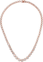 Kenneth Jay Lane CZ by Rose-Gold-Plated Graduated Cubic Zirconia Necklace