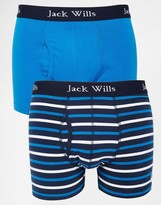 Jack Wills Chetwood Classic Trunks In 2 Pack