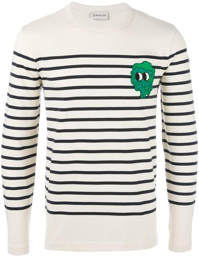 Moncler striped long sleeve top