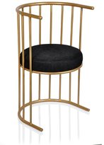 Horizon Black and Gold Side Accent Chair