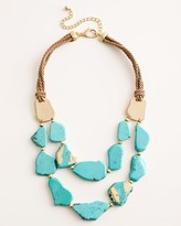 Chico's Chicos Simulated Turquoise Bib Necklace