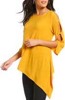 IC Collection ITY Solid Ladder Sleeve Tunic