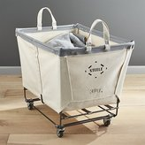 Crate & Barrel Steele Rolling Laundry Basket