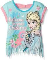 Disney Toddler Girls' Frozen Fashion Tee with Fringe Design