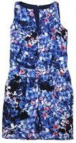 J.Crew J. Crew Collection Blue Floral Silk Sleeveless Dress