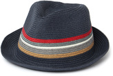 Barbour Tain Navy Stripe Paper Trilby