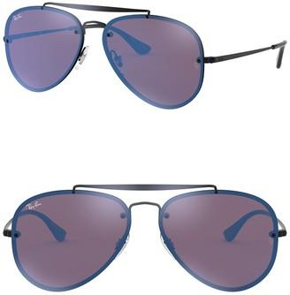 Ray-Ban 61mm Mirrored Lens Aviator Sunglasses