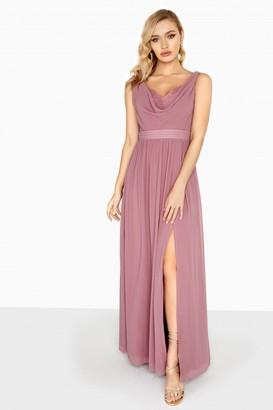 Little Mistress Annabelle Cowl Neck Maxi Dress
