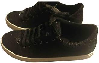 GUESS Black Cloth Trainers