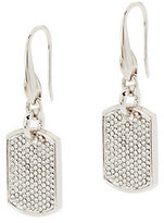 Swarovski Stella Valle Crystal DogTag Earrings by Lori Greiner