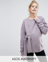 Asos Sweatshirt with Knot Detail and Texture