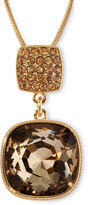 JCPenney MONET JEWELRY Monet Gold-Tone Brown Stone Pendant Necklace