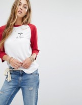 Lovers + Friends One for the Road Slogan Raglan Top