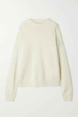 The Row Cirane Merino Wool And Cashmere-blend Sweater - Cream