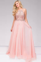 Jovani Chiffon Halter Neck Prom Dress 49499