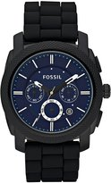 Fossil Men's FS4605 Rubber Analog with Blue Dial Watch