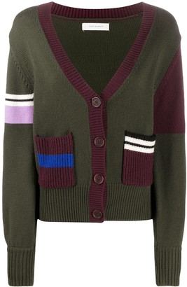 Chinti and Parker Panelled Wool Cardigan