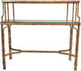 One Kings Lane Vintage Gilded Bamboo-Style 2-Tier Console Desk