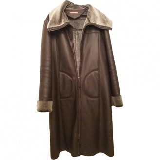 A Piece Of Chic Brown Leather Coat for Women