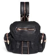 Alexander Wang 'Mini Marti' washed leather three-way backpack