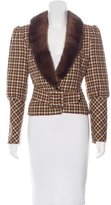 Valentino Fur-Trimmed Wool Jacket w/ Tags