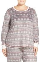 PJ Salvage Plus Size Women's Fleece Lounge Pullover