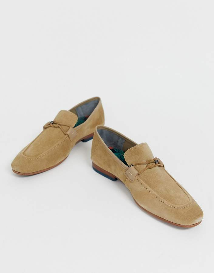 Ted Baker Siblac loafers in beige suede
