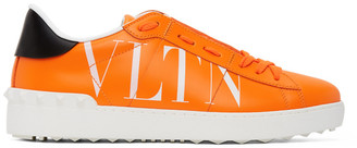 Valentino Orange Garavani VLTN Open Sneakers