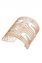 Amanda Wakeley Deco Rose Gold Square Bangle