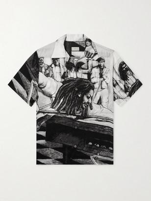 KAPITAL + Bob Marley Camp-Collar Printed Woven Shirt