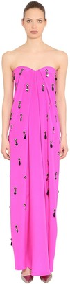 Emilio Pucci Embellished Silk Cady Long Dress