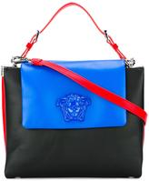 Versace Palazzo colour block flap bag - women - Calf Leather/Nylon - One Size