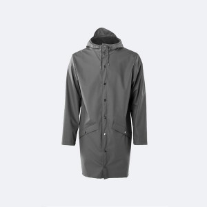 Rains Charcoal Long Jacket - XXS/XS