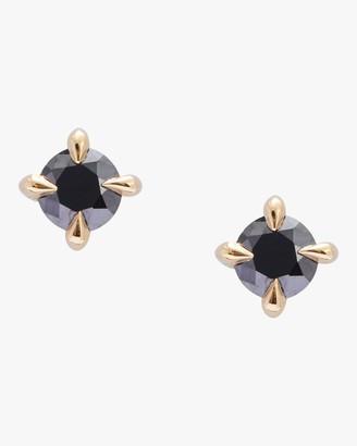 Yi Collection Black Diamond Stud Earrings