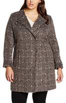 Samoon Women's Print Wool Coat,20 (Manufacturer Size:46)