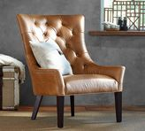 Pottery Barn Hayes Tufted Leather Armchair