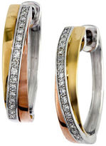 Effy 14K Tri-Colour Gold Diamond Earrings