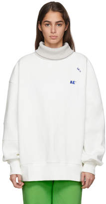 ADER error White Oversized Man-To-Man Turtleneck