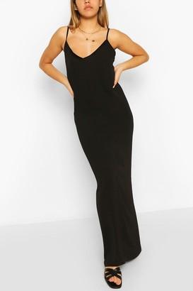 boohoo Plain Strappy Maxi Dress
