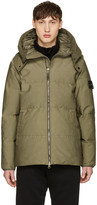 Stone Island Green Down Hooded Jacket
