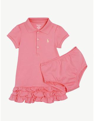 Ralph Lauren Cotton polo dress and bloomer set 3-24 months
